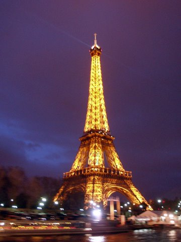 Findpicture  Eiffel Tower on Eiffel Tower On A Winter   S Evening    Lamppost Pictures
